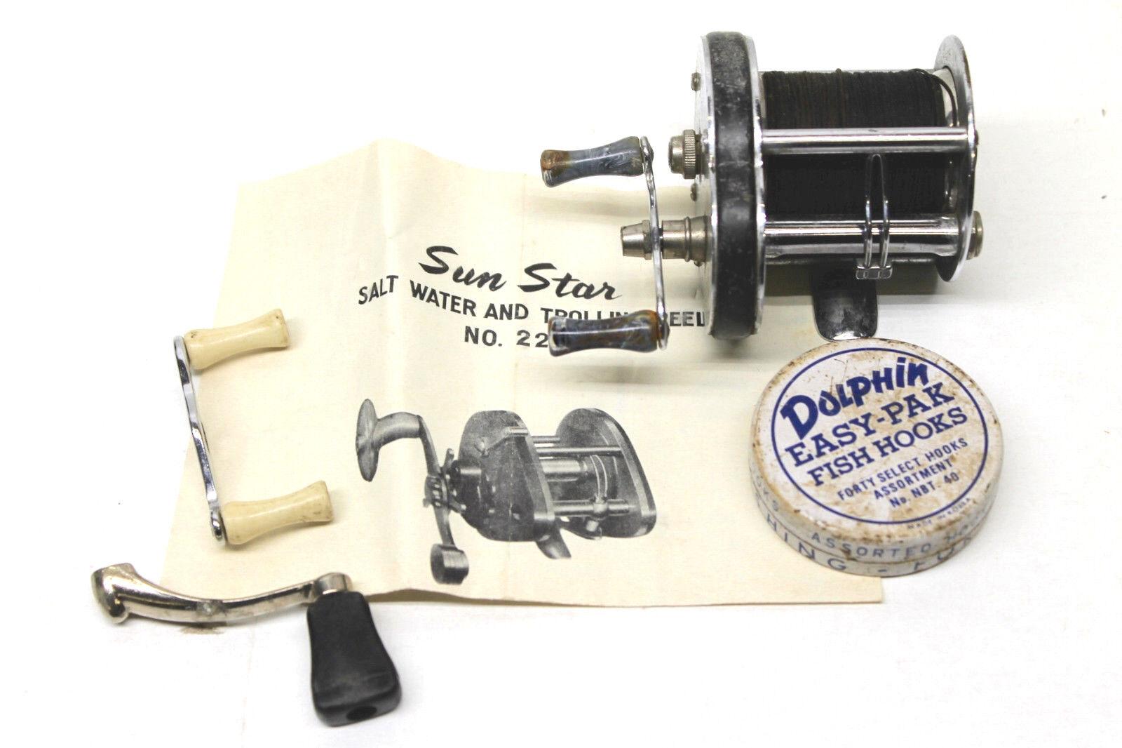 Vintage Bal CLI Kalamazoo Fishing Reel Chrome Shakespeare Reel Co. Made USA