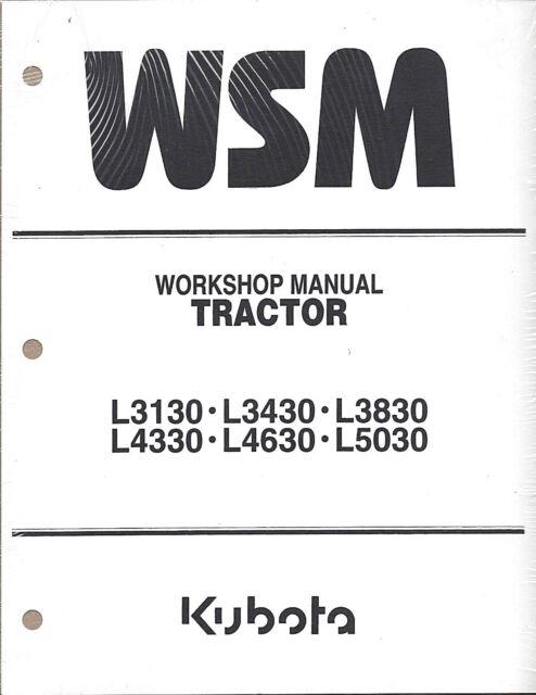 Kubota L3130 L3430 L3830 L4330 L4630 L5030 Workshop