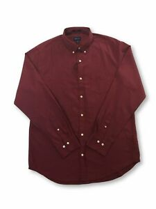Gant-Winter-Twill-regular-cotton-shirt-in-mahogany-red