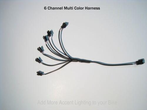 6 Channel LED Multi-Color Accent Light Harness RGB RBG