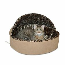 "K&H Manufacturing Thermo-Kitty 4 Watt Heated Deluxe Hooded Cat Dog Bed 20"" Large"