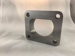 "T4 Turbo Inlet Flange To 2.5"" Opening, Undivided, Low profile .75"""