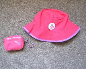 Girls FLOPPY TOPS Sun Hat In A Pouch Reversible - Small 46cm - Brand ... 678db63c348