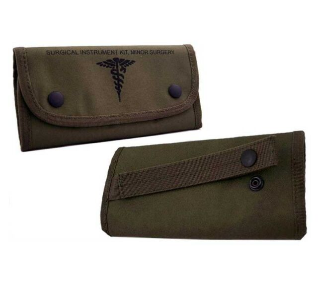 Surgical Set Tri Fold Molle Pouch Elite First Aid Stainless Steel Supplies