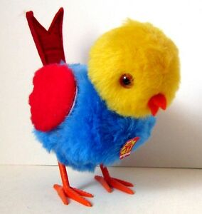 AUTOMATE-CARL-OISEAU-PICORANT-BLEU-AILES-ROUGES-FONCTIONNE-MADE-IN-WEST-GERMANY