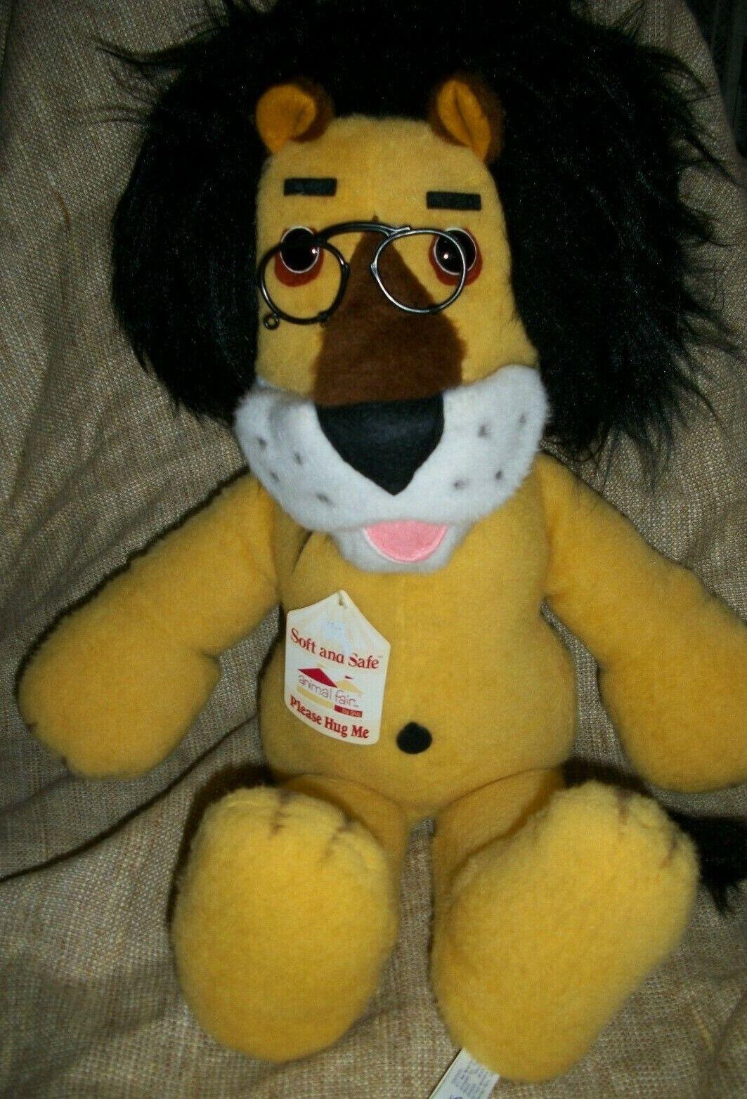 Vintage 26  ANIMAL FAIR Plush Stuffed HUBERT the HARRIS LION with TAGS 1979