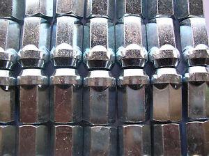 16x-Radmutter-Silber-M12x1-5-Kegel-SW17-Ford-Capri-Granada-Cortina-Taunus-D90
