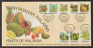 (F126)MALAYSIA 1986 NATIONAL FRUITS DEFINITIVE FDC
