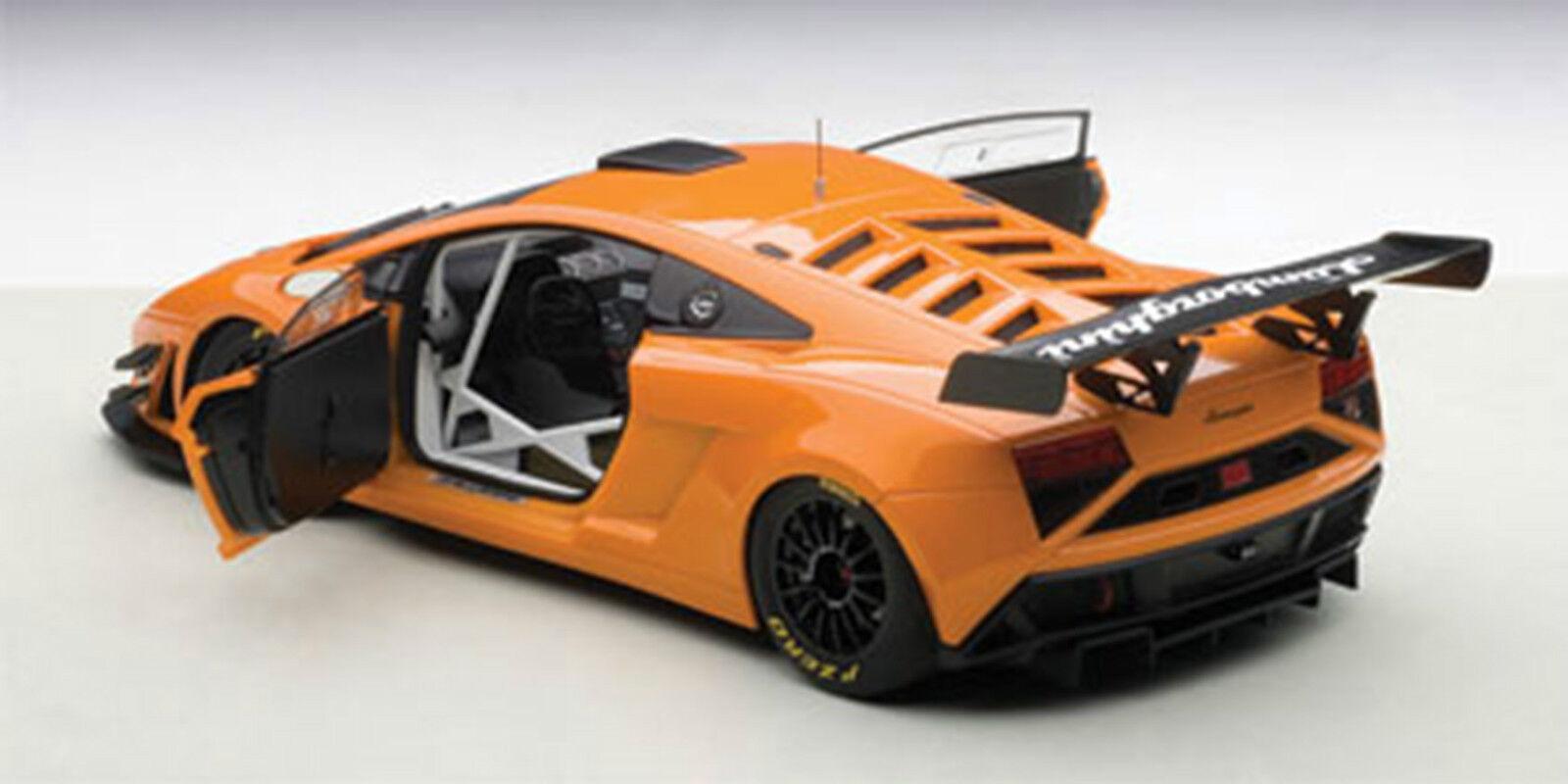 Autoart 2013 Lamborghini Gallardo Gt3 Fl2 Naranja Metálico Compuesto 0.1cm
