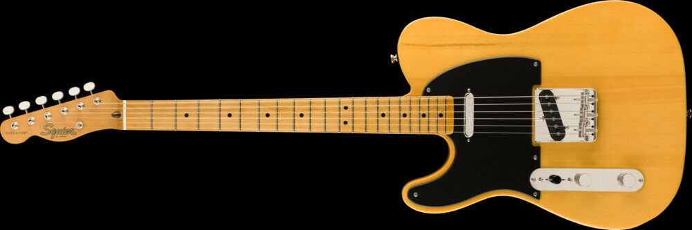 This pre-owned left handed Fender Telecaster guitar is for sale - Fender Squier Classic Vibe '50s Telecaster Left-Handed, Butterscotch Blonde, Map