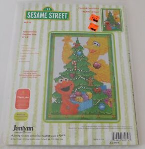 Janlynn-SESAME-STREET-Christmas-Tree-Big-Bird-ELMO-Counted-Cross-Stitch-Kit