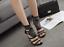 Women-Fashion-Stiletto-Suede-Rhinestone-Ankle-Strap-High-Heels-Sandals-Boots thumbnail 5