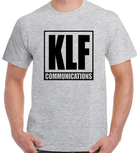 The KLF Communications Mens Album T-Shirt 90/'s Rave Acid House Timelords Mu Mu