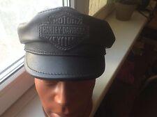 biker Baseball cap hat genuine leather size 58