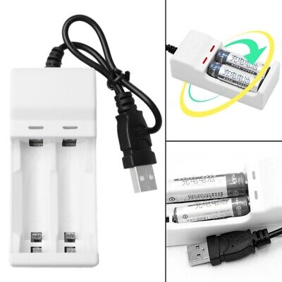 DC USB Port Battery Charger For NiMH NiCD AA AAA Rechargeable Battery Compact