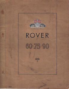 rover p4 1955 models 60 75 90 instruction manual handbook nov rh ebay co uk rover 75 user manual rover 75 user manual pdf