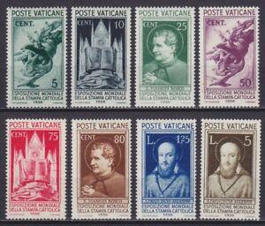 "Vaticano 1936 ""Stampa Cattolica"" 47-54 nuova MNH** g. integra cert. E.Diena"