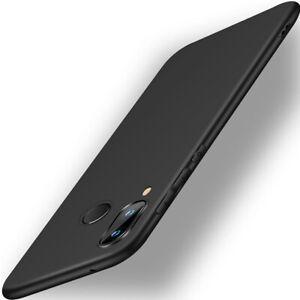 Schutzhuelle-Silikon-Fuer-Huawei-P20-P30-P40-Lite-Pro-TPU-Case-Cover-Schwarz