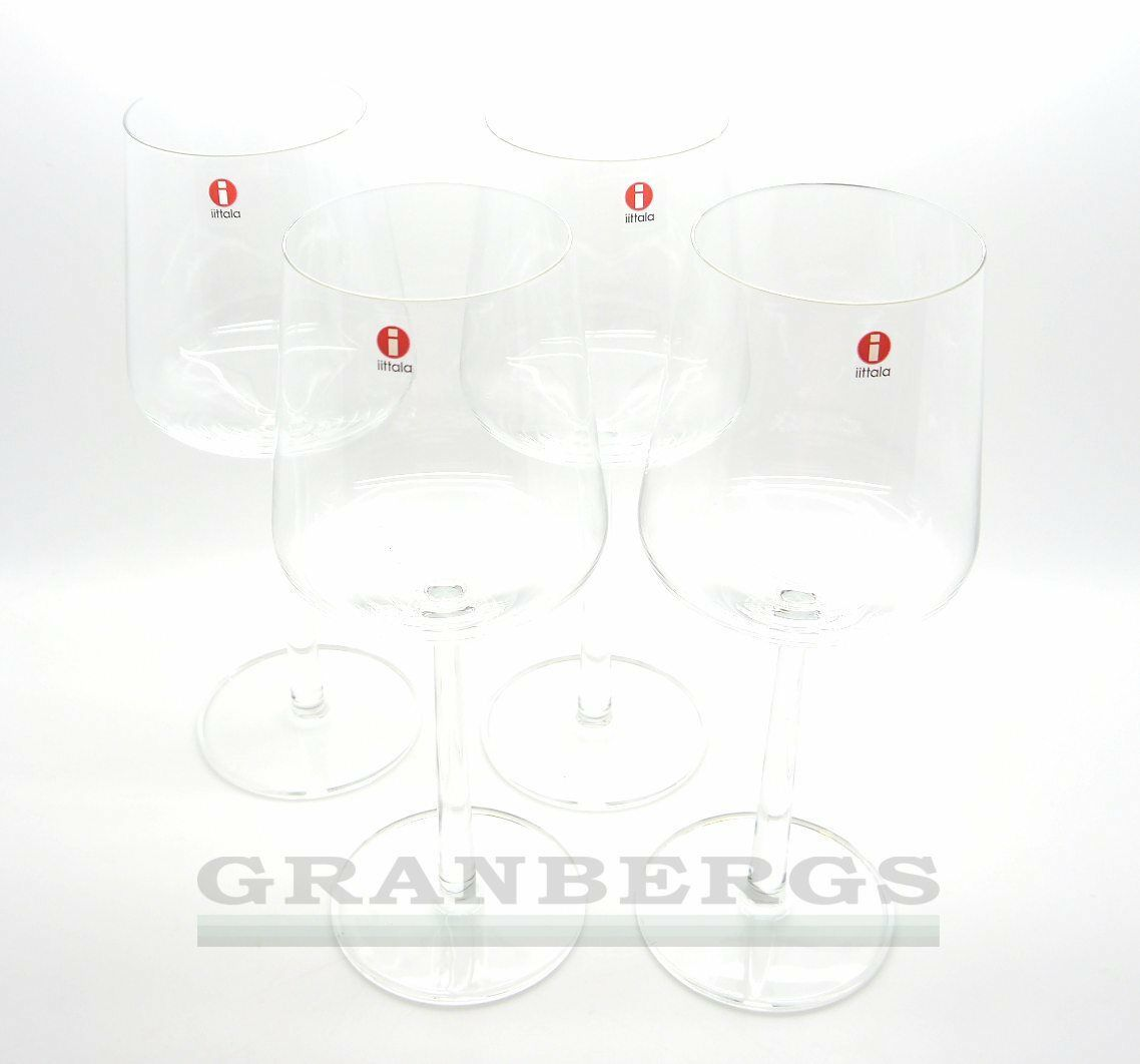 Iittala Essence rouge Wine Glass 4pc set Crystal Glass Gift Set Finnish Design