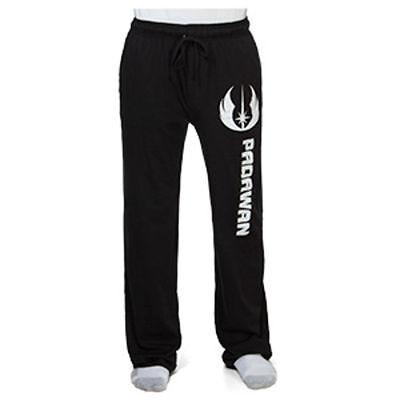 Mens Star Wars Jedi Knight Black Cuffed Lounge Pants Pyjama Bottoms Size S M XL L