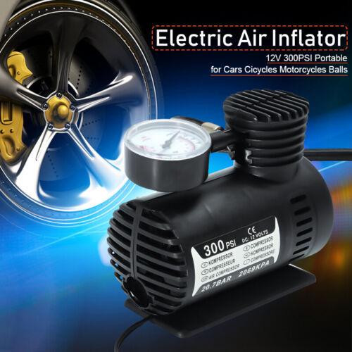 300 PSI Tire Inflator Mini Car Air Pump Compressor Electric