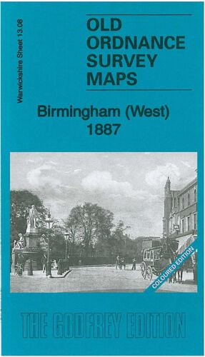 OLD ORDNANCE SURVEY MAP BIRMINGHAM WEST 1887 LADYWOOD HAGLEY ROAD BROAD ST
