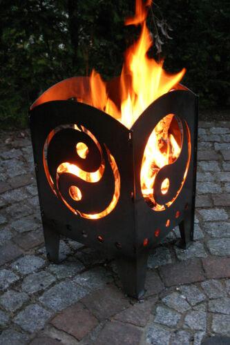 Colonne de feu//un panier brasero yin et yang taille L en acier de svenskav Nouveau//OVP