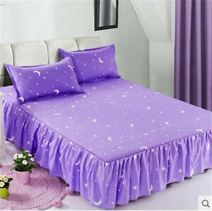Home-Single-Queen-King-Bed-FITTED-SHEET-ONLY-Polyester-Fiber-OauR-Star-Moon-zy