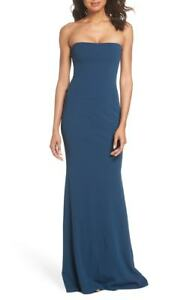 KATIE-MAY-Bandeau-Strapless-Cutout-Cowl-Drape-Back-Stretch-Crepe-Mary-Gown-6