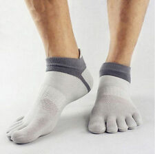 1 Pairs Men's 5 Toe Socks Sports Five Finger Socks Breathable - Grey