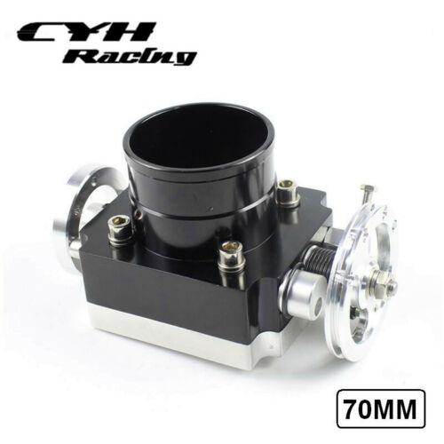"70MM Universal Aluminum Billet CNC Throttle Body For 2.75/"" Inch Intake Manifold"