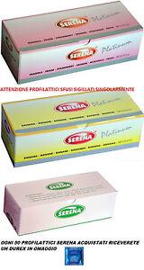 50 Preservativi Profilattici Serena FRAGOLA/BANANA NATURALI SFUSI 1 DUREX OMAGGI