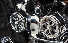 BD-320 + VBM Love Jugs Bullets Chrome Engine Cooling Fans for Harley Motorcycles