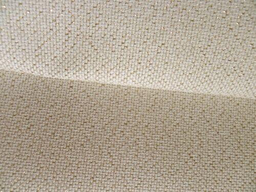Crema de Oro Lurex 18 cuenta Aida Zweigart cross stitch tela-opciones de tamaño
