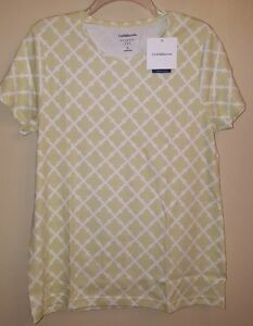 NWT-Croft-amp-Barrow-Women-039-s-LARGE-X-LARGE-Short-Sleeve-Shirt-GREEN-Tee-685915