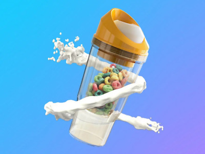 A Portable Cereal Cup No Bowl It/'s Cereal On The Go No Spoon The CrunchCup