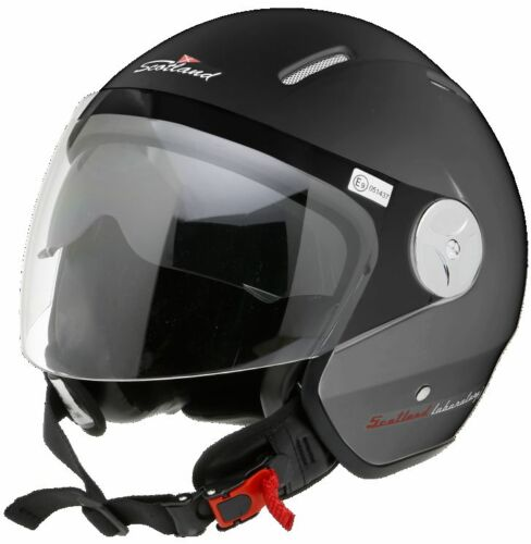 CASCO SCOTLAND JET MOTO SCOOTER HELMET 120008 CON VISIERA E OCCHIALINO SOLARE