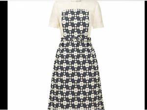 ORLA KIELY Dress Daisy Gingham Short Sleeve Pebble