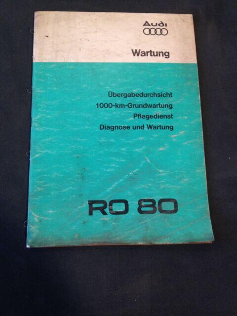 Maintenance remise par vue NSU RO 80 ro80 werkstatthand livre 1975/original NSU