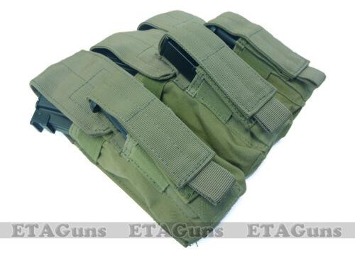 CONDOR OD Green MA72 MOLLE Triple 7.62x39 5.56 Rifle Kangaroo M9 Magazine Pouch