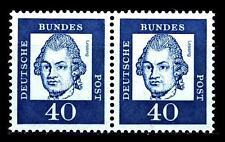 BUND bed. Deutsche (y)  40  Pf. **, Mi. 355 - im Paar, postfrisch Luxus