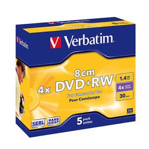Mini-DVD-RW-4x-Verbatim-8cms-034-Matt-Silver-034-5-uds