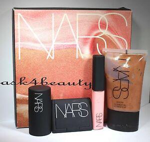 Nars-Andy-Warhol-Sea-Of-Love-4-Pc-Set-illuminator-Blush-Lip-Gloss-Multiple-Nib