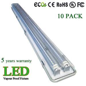 4\' FT Vapor Proof Shop Garage Ceiling Light Fixture 36 Watt LED T8 ...