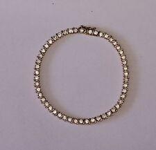"""14k yellow gold Cubic Zirconia tennis bracelet 7.5g estate vintage antique 7"""" CZ"""