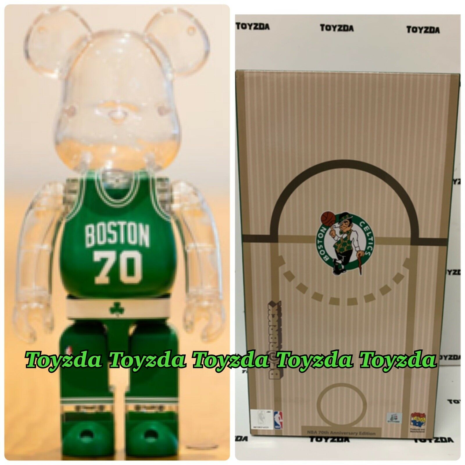 Medicom Milk Magazine x NBA Boston Celtics 400% orsobrick Be@rbrick 1pc