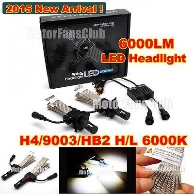 2015 New 40W 6000LM H4 (9003/HB2) H/L Cree LED Headlight Kit Driving Lamp 6000K