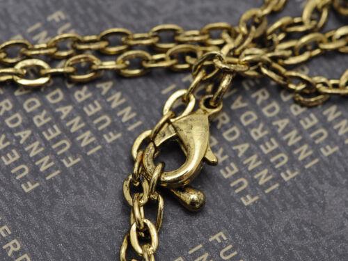 Horoscope Golden Tone Serpent Cobra Cristal Strass Collier Pendentif Bijoux