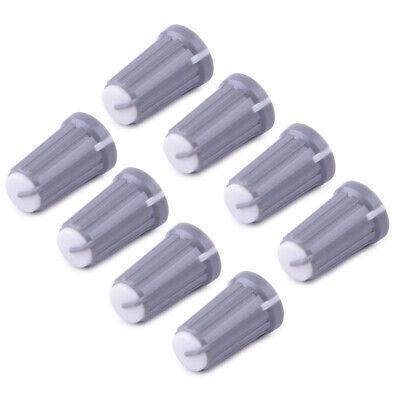 20x Plastic Control Knob Insert Type 12mmDx19mmH 6mm D Shaft Grey New