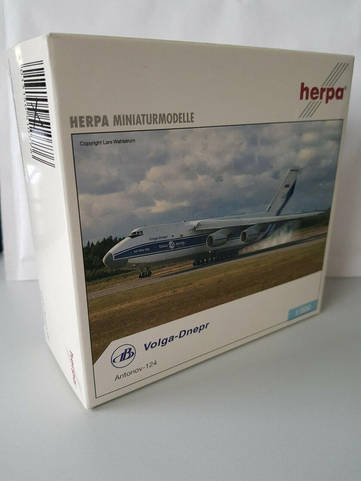 1 500 Herpa Wings 510776 Volga-Dnepr Antonov an-124 with registration, nuovo rar